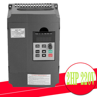 2HP 220V 8A Single To 3 Phase Variable Frequency Inverter Speed Drive VFD VSD