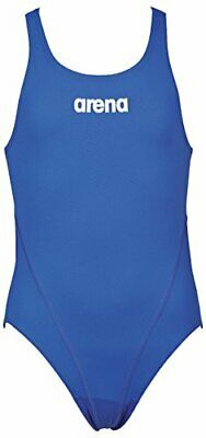 Arena Solid Swim Tech Jr Costume da Bagno, Bambina, Solid Swim Tech Jr, (w7W)