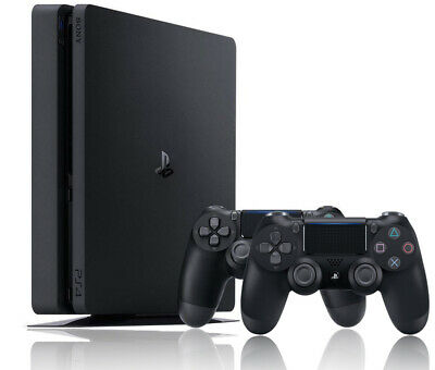 Sony Playstation 4 500GB PS4 Slim Game Console incl. 2 Controllers ^