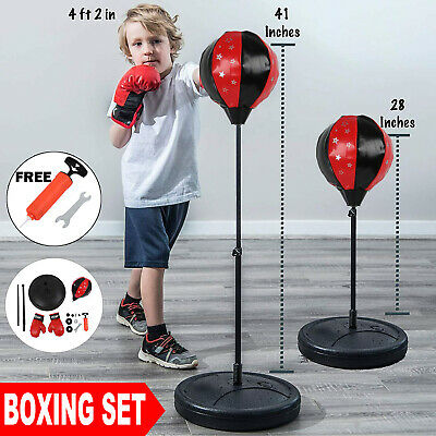 Junior Boxing Set Kids Punch Bag Ball Training Free Standing Punching Bag Gift