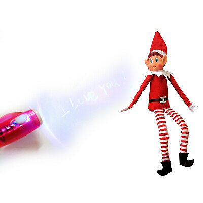 "12"" Red Boy Naughty elf Elves Behavin Badly on the shelf  + Free Magic Pen Prop"