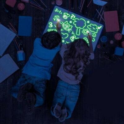 Light up Drawing Fun Developing Toy Draw Sketchpad Board Portable for Boys Girls