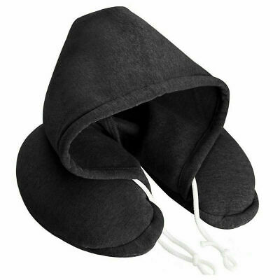 Hooded Neck Travel Flight Pillow Car Airplane Soft Comfortable Hoodie Drawstring