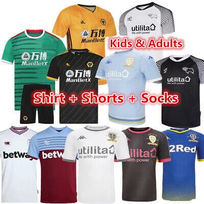 19/20 Football Kit Soccer Jersey Strips Kids Custom Soccer Outfit Christmas Gift