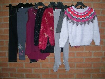 NEXT BLUEZOO M&S GEORGE etc Girls Bundle Jeans Tops Jumpers Tights Age 6-7 122cm