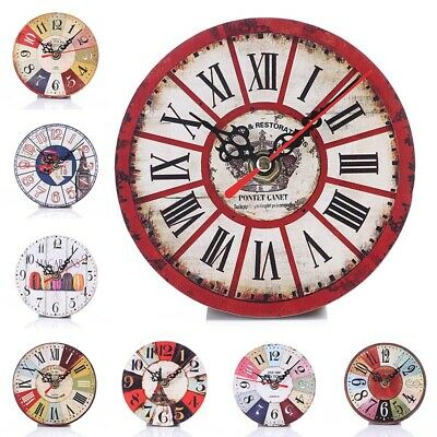 Retro Hanging Wall Time Clock Numerals Dial Watch For Home Office Decorations