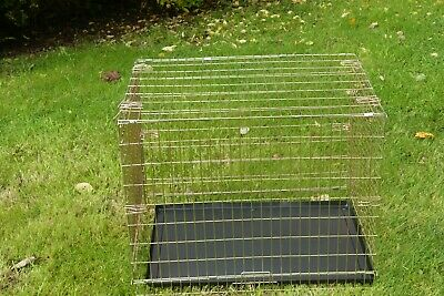 "Heavy Duty 30"" Metal Pet Cage Carrier Dog Puppy Folding Training Crate Travel"