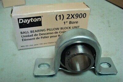 "DAYTON 2X900 Pillow Block Bearing,Ball,1"" Bore. (Lot 794)"