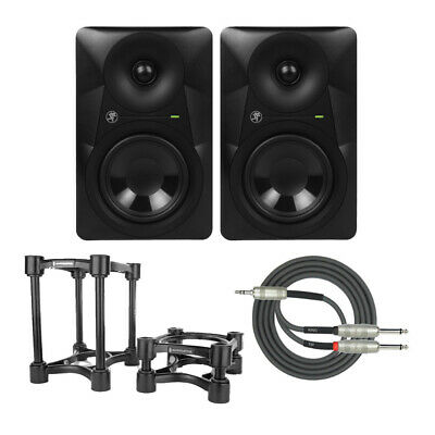 Mackie MR524 Studio Monitor, 5-inch (Pair) with Monitor Stand and Breakout Cable
