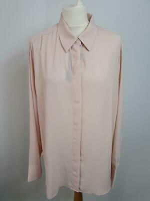 MARKS & SPENCER Ladies Light Pink Blush Floaty Blouse Shirt Top Size 18 BNWT
