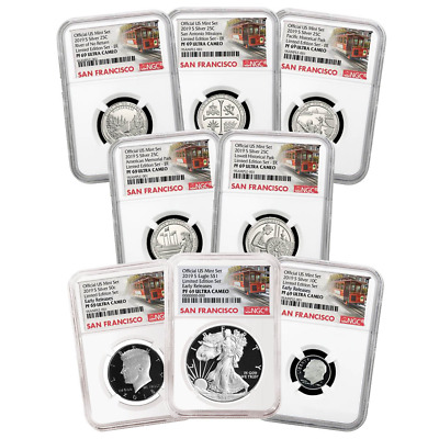 2019-S Limited Edition Silver Proof Set 8pc. NGC PF69 Trolley ER Label
