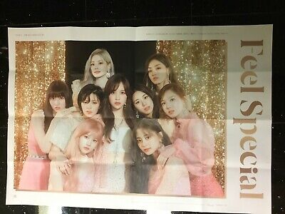 TWICE Feel Special Folded Poster Version A Gold Pink Glitter 8th Album Kpop Once