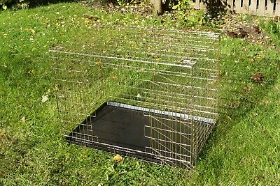 "Heavy Duty 36"" Metal Pet Cage Carrier Dog Puppy Folding Training Crate Travel"
