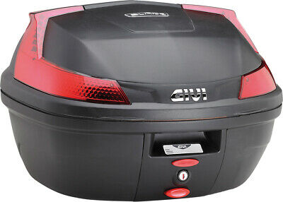 Monolock Top Case Matte Black Red Lens Givi B37NA