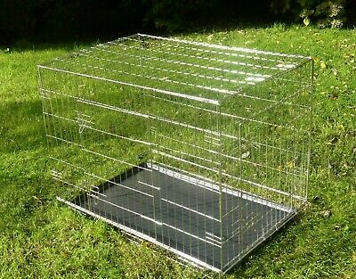 "Heavy Duty 42"" Metal Pet Cage Carrier Dog Puppy Folding Training Crate Travel"