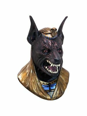 Egyptian Pharoah God Dog Head DELUXE ADULT LATEX ANUBIS MASK