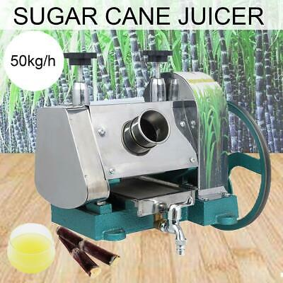 Manual Sugar Cane Press Juicer Juice Machine Commercial Extractor Mill Handwheel