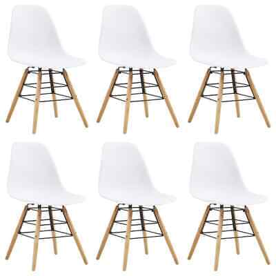 vidaXL 6x Dining Chairs White Dining Room Kitchen Living Room Side Chairs