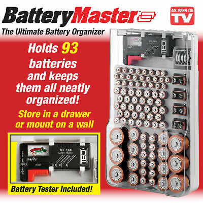 Portable Battery Master Battery Capacity Tester Storage Organizer Box Hold 93
