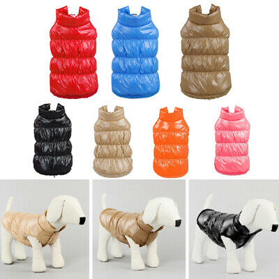 Small Dog Pets Puppy Winter Padded Waterproof Coat Down Jacket Warm Vest Clothes