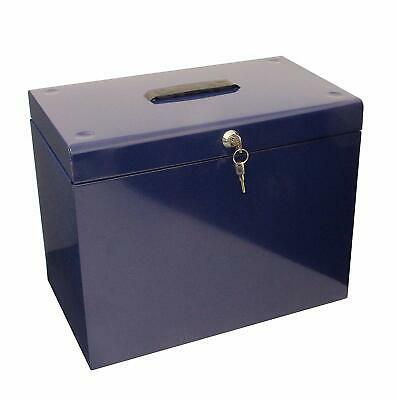 Metal File A4 Box Lockable Storage Office Organizer Orderly Paperwork Documents