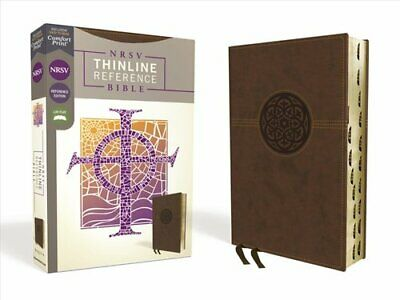 NRSV, Thinline Reference Bible, Leathersoft, Brown, Thumb Index... 9780310453253
