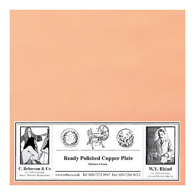 Roberson Polished Copper Etching Plate 100x100x1.2mm