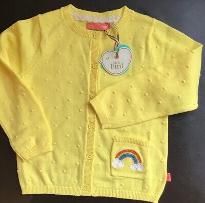 Little Bird By Jools Oliver Yellow 🌈 Rainbow 🌈Cardigan 4-5 Years 🍄