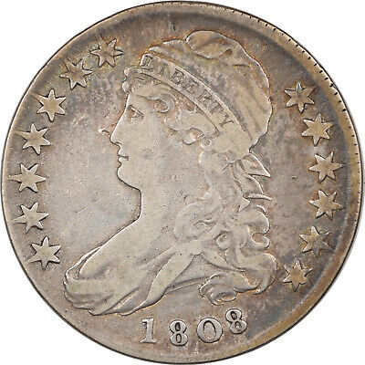 1808 CAPPED BUST HALF DOLLAR - O-102a - PLEASING CIRCULATED EXAMPLE!