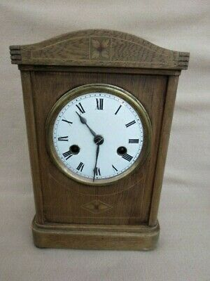 Antique Vintage Hac 8 Day Striking Mantel Clock For Restoration