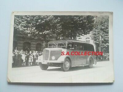 CPA 76 CARTE PHOTO - LE HAVRE camion de pompier en parade !