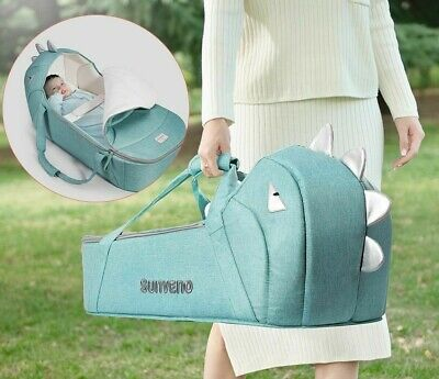 Baby Carrycot Portable Bassinet Baby Travel Bed Crib Infant Transporter Basket