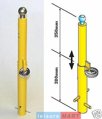 Security post, removable hitch type heavy duty parking bollard Maypole MP9735