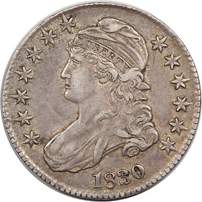 1830 Capped Bust Half Dollar - O-104 R-3 - High Grade Example