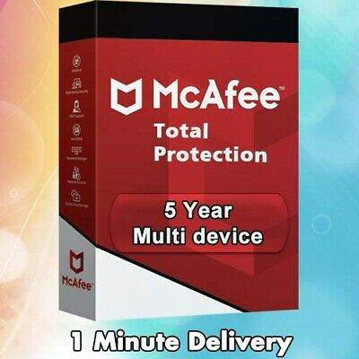 McAfee Total Protection 2020 | 5 Years | Multi Device | License Key