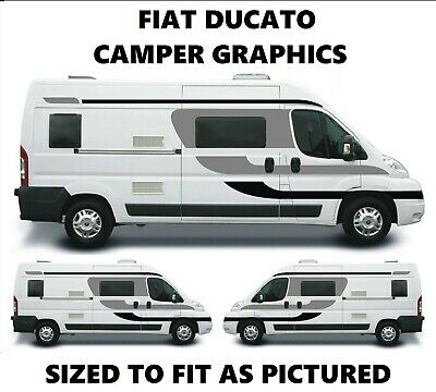 Fiat Ducato Campervan Graphics Motorhome Vinyl Stickers Decals Vinyl