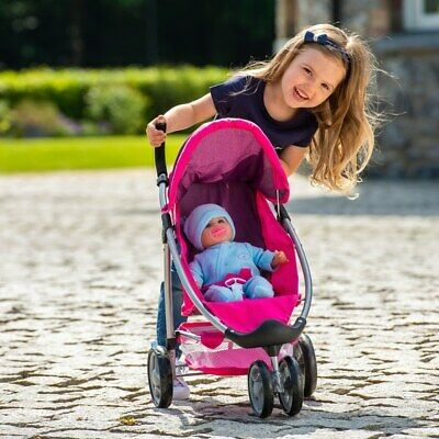 Gilrs Doll Toy Buggy Stroller Pushchair Pram interactive Learning Play