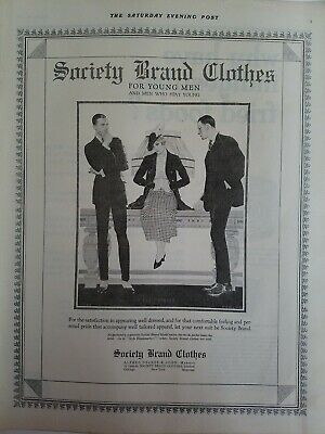 1919 men's Society Brand clothes young men Coles Phillips vintage fashion art ad