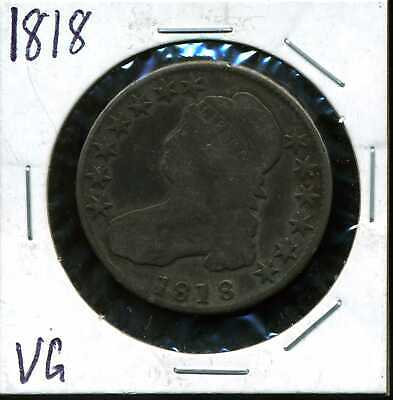 1818 50C Capped Bust Half Dollar in VG Condition COIN#02