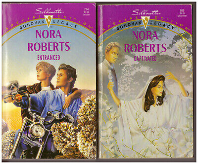Lot of 2 Nora Roberts books DONOVAN LEGACY Captivated, Entranced 1st Edition!