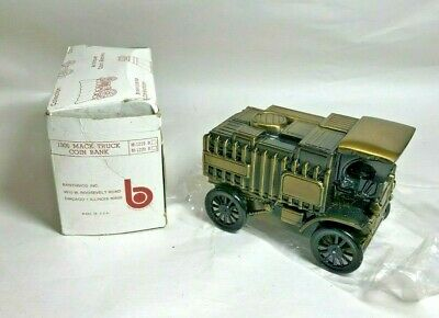 Vintage 1906 Mack Truck Coin Bank from Banthrico Inc., with original box
