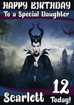 MALEFICENT MISTRESS OF EVIL personalised birthday card