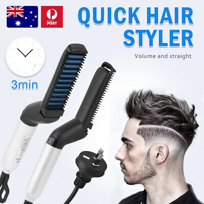 Electric Quick Beard Straightener Multifunctional Hair Comb Curling Curler Cap O