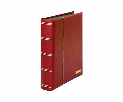5x lindner Stockbook Red Elegant with 60 Black Pages 1169S