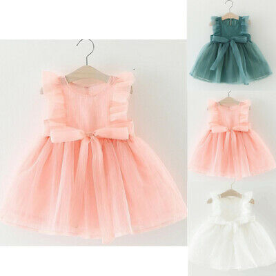 UK Seller Toddler Infant Baby Girl Kids Short Mini Dress Summer Sundress Skirt