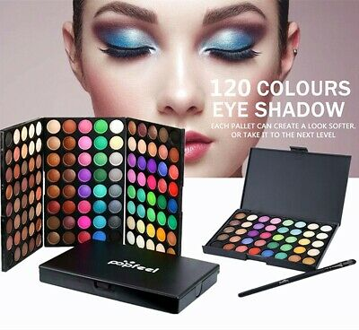 New Pro Cosmetic Shimmer Matte Eyeshadow 120 Colors Powder Palette Makeup Kit♡