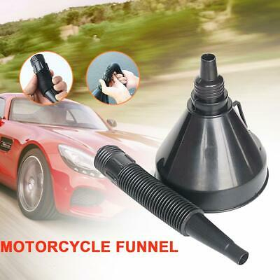 Plastic Funnel Engine Oil Water Liquid Gas Fuel Spout & Filter ForCar Motorcycle
