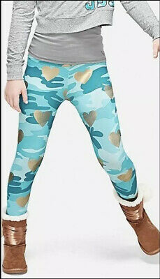 Justice Girls Size 18 Plus Blue Foil Camo Full Length Leggings New with Tags