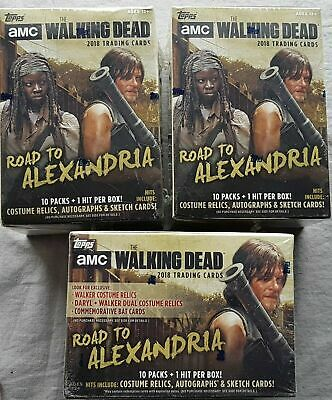 3x Topps the Walking Dead Road to Alexandria Trading Cards Blaster Box 2018