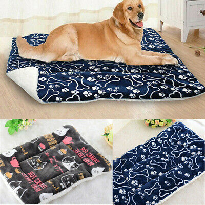 Cute Pet Dog Large Cat Bed Cushion Mat Pad Kennel Crate Cozy Warm Soft House UK